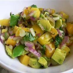 Receta de aguacate salsa de mango