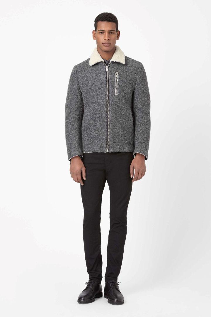 COS   Melange flight jacket