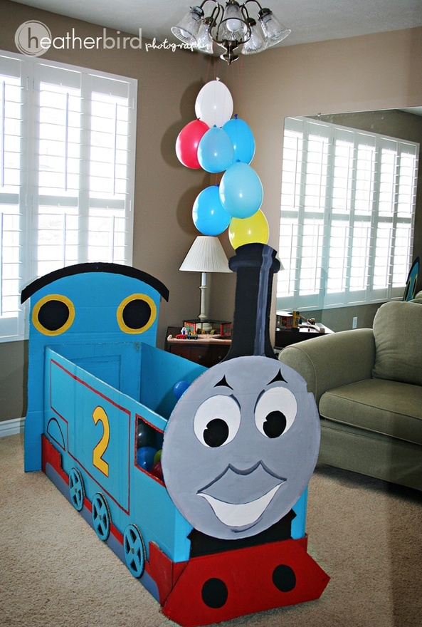 Thomas the Train Birthday Party (7) #food  I can see this as a ball pit!