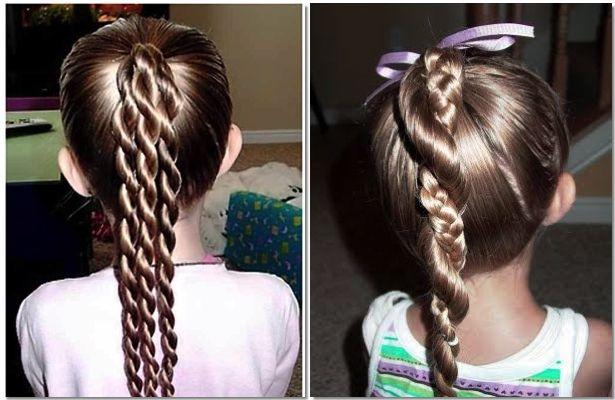 Peinados faciles para ninas peinados para las princesas - Trenzas para nina faciles ...