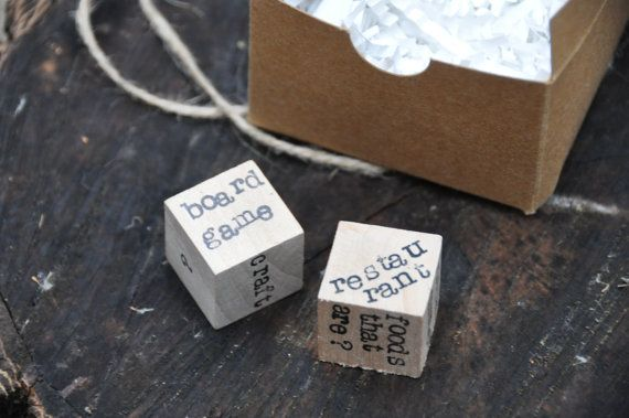 These date night dice are the ultimate wedding honeymoon gift or bridal shower gift! These date night dice are perfect for the couple who loves to