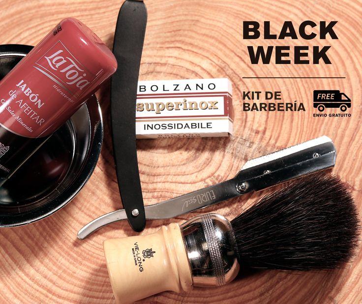 ¿ERES UN AMANTE DEL AFEITADO CLÁSICO?   ➡Aprovecha la BLACK WEEK de CalendulaDistri.com y llévate uno de nuestros Kits de Barbería con los ¡GASTOS DE ENVÍO GRATIS!  #BlackFriday #BlackWeek #AfeitadoClásico
