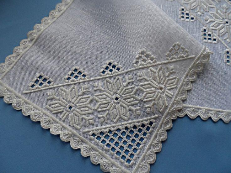 Runner. Hardanger embroidery