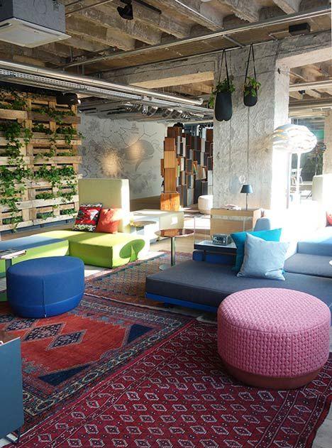 Plants create urban jungle at Berlin hotel by Studio Aisslinger