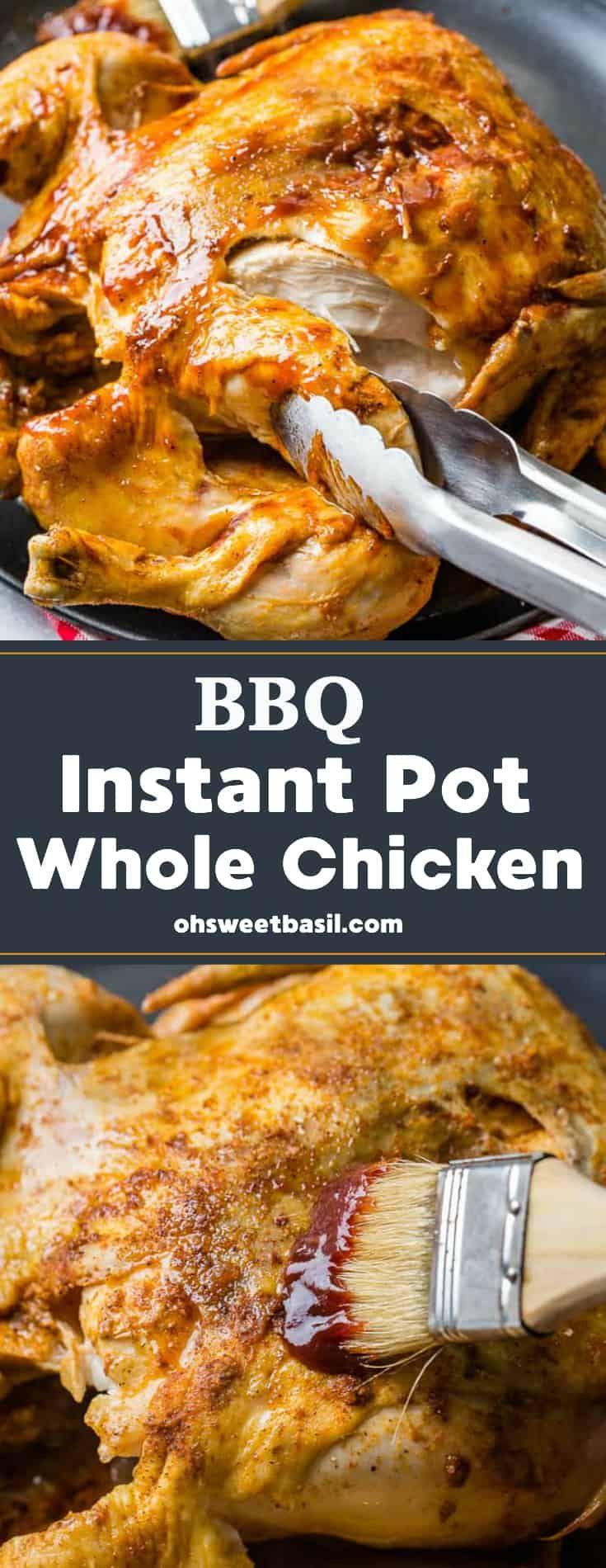 Bbq Instant Pot Whole Chicken  Recipe In 2019  Bbq -8840