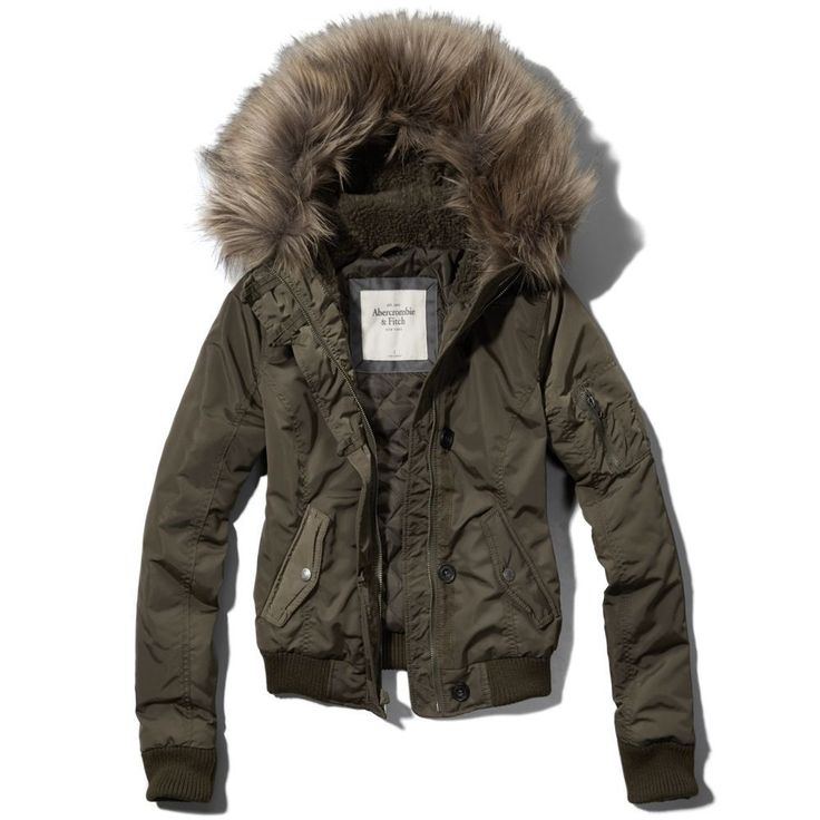 Nwt Abercrombie Amp Fitch Womens Olive Vanessa Bomber Jacket