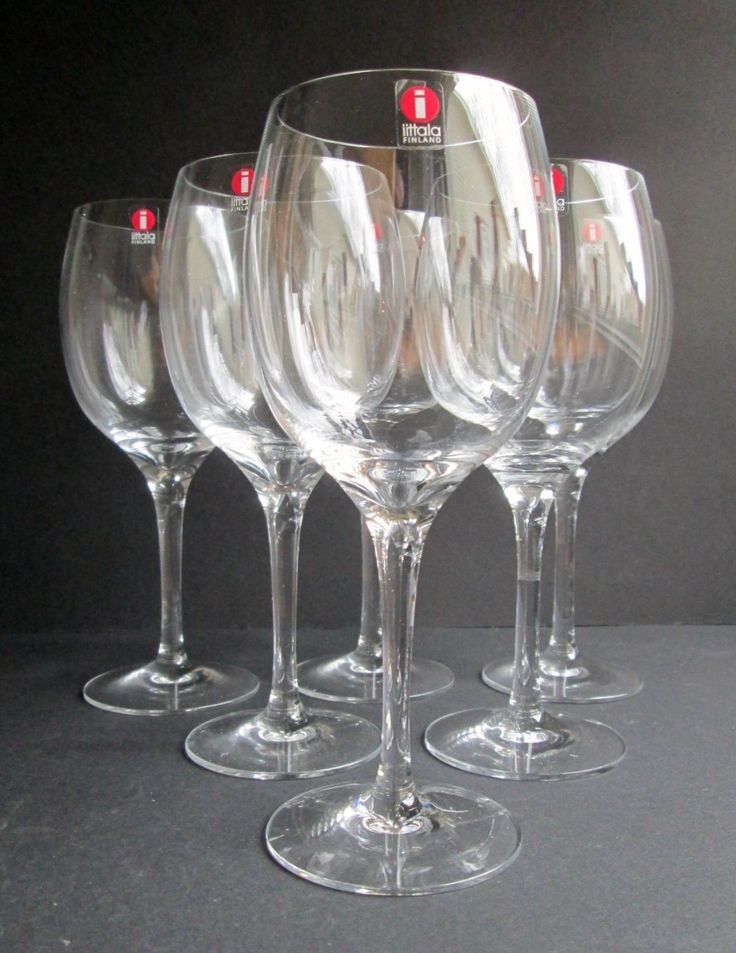 Set of 6 Kolibri  (Hummingbird)  red wine (punaviini) glasses designed in 1983 by Timo Sarpaneva for Iittala , Finland, in original carton by SCALDESIGN on Etsy