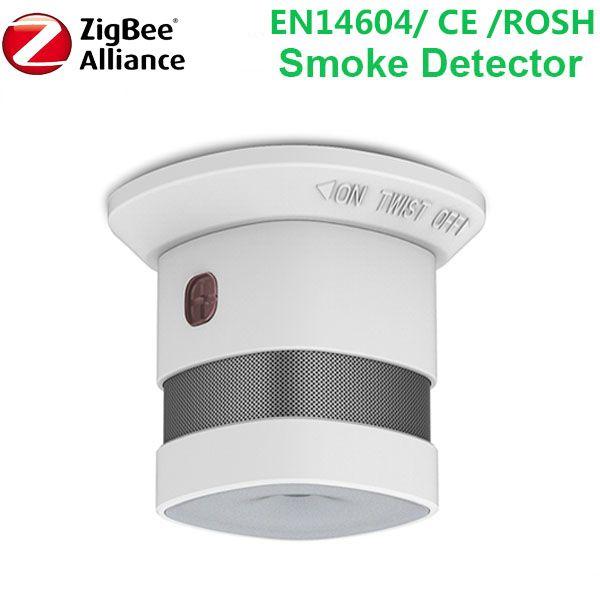 Bezprzewodowej Zigbee inteligentny przeciw pożarowego alarm czujnik dymu EN14604 CE ROSZ zatwierdzone czujka dymu