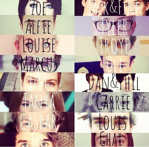 youtubers tumblr - Google Search<<I love how everyone has their own rectangle and then there's Dan and Phil