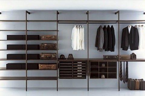 Steel wardrobe frame