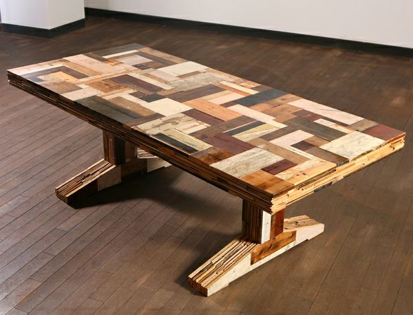 Brilliant unique furniture ideas create unique lifestyle carming wooden table of recycled Cream wooden furniture