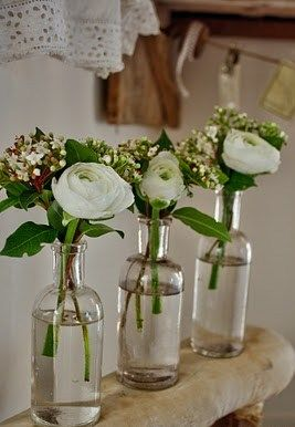 ranunculus: center pieces ??