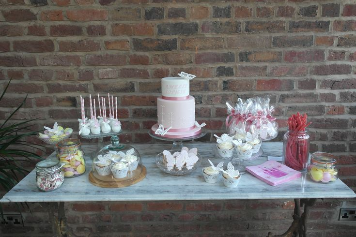 Pink and White Sweet Table, Cake, Cupcakes, Cake Pops, Cookies, Sweets