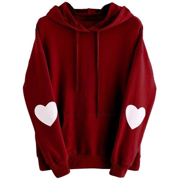 Plus Size Sweatshirt,Goddessvan Womens Casual Long Sleeve Heart Hoodie... ($9.75) ❤ liked on Polyvore featuring tops, hoodies, jackets, hooded sweatshirt, women's plus size hoodies, womens plus hoodies, red hooded sweatshirt and plus size hoodie