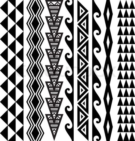 Hawaiian Tribal Tattoo | diseñar aleatoriamente.