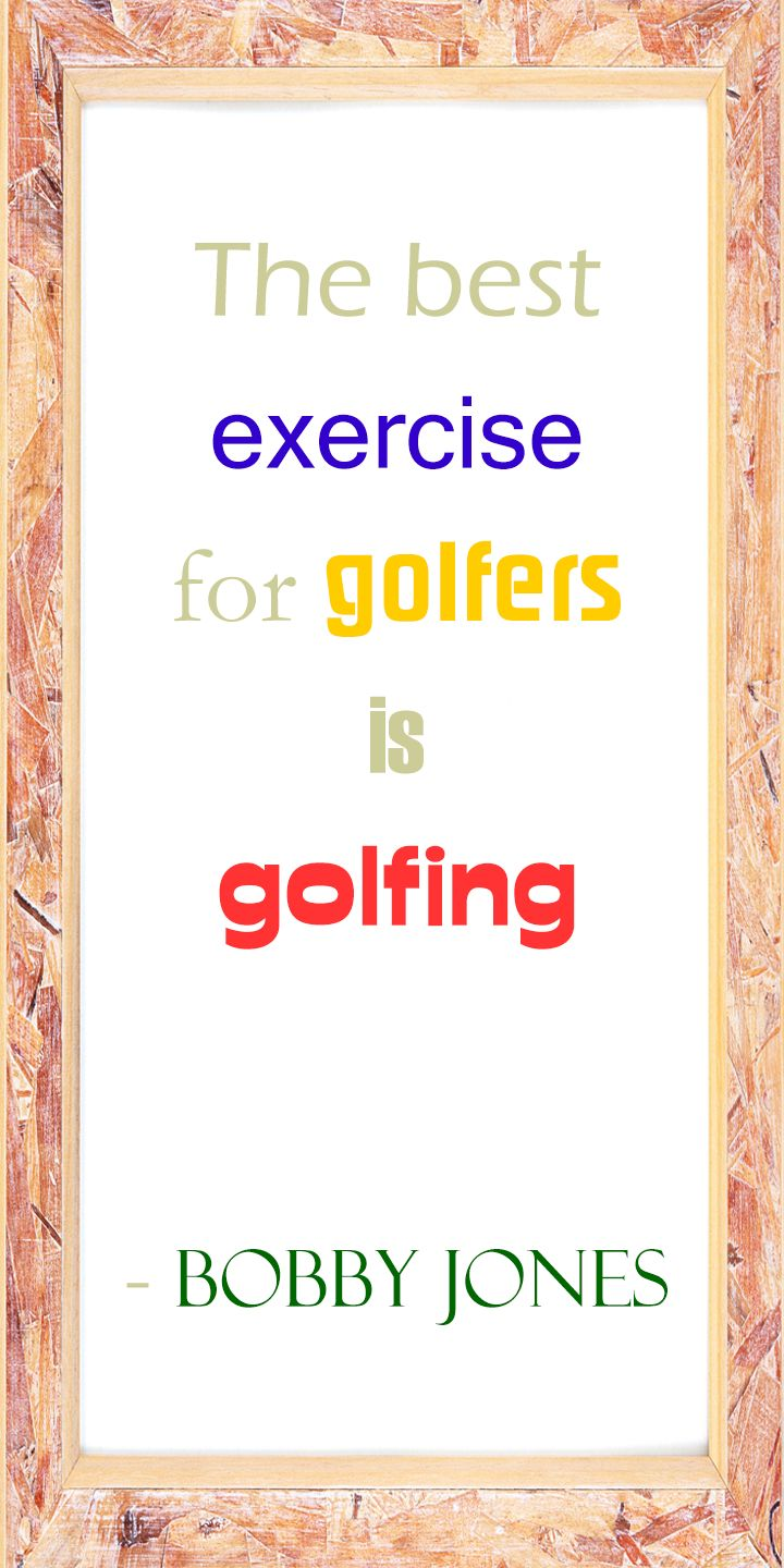 The best exercise for Golfers is GOLFING! True? #lorisgolfshoppe