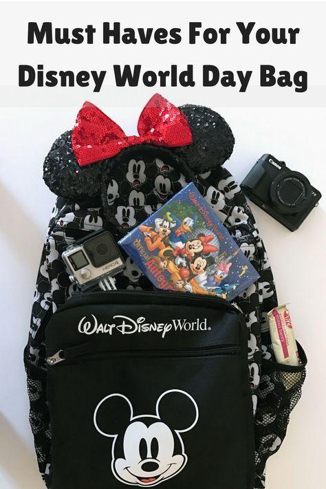 Must Haves For Your Disney World Day Bag, Disney World Packing Tips, #DisneySMMC