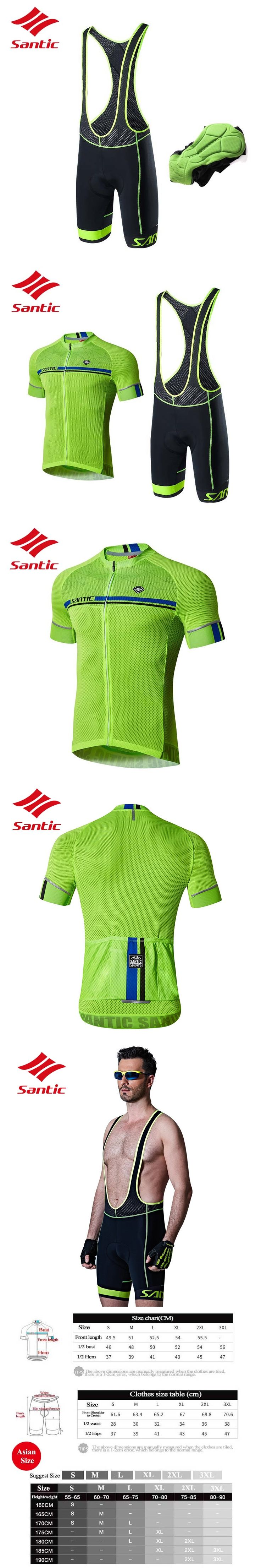 Santic Cycling Jersey Set 2017 Men Pro Team Summer Cycling Clothing MTB Road Bike Bicycle Clothes Suits Ropa Ciclismo Bicicleta