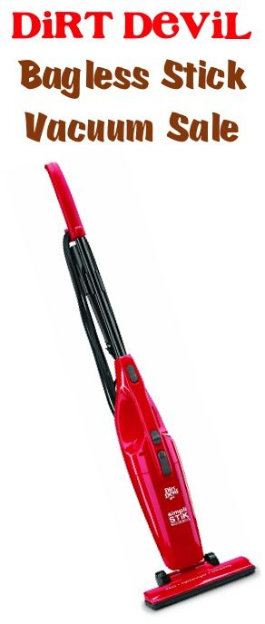 Dirt Devil Bagless Stick Vacuum Sale: $14.87!