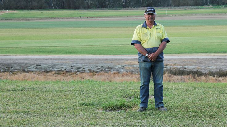 Ken Tyson uses water Murrumbidgee River at Wagga to run two thriving businesses. His turf farm supplies clients as far away as Melbourne, Sydney and Canberra and his quarry supplies raw material for infrastructure across the region.