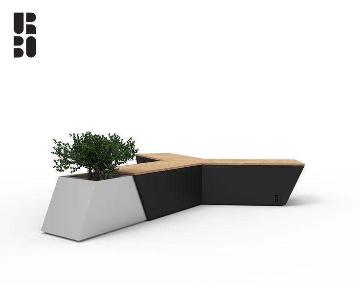 Air bench black + steel