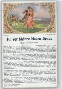 An der schönen blauen Donau - Liederkarte - Walzer - Tanz