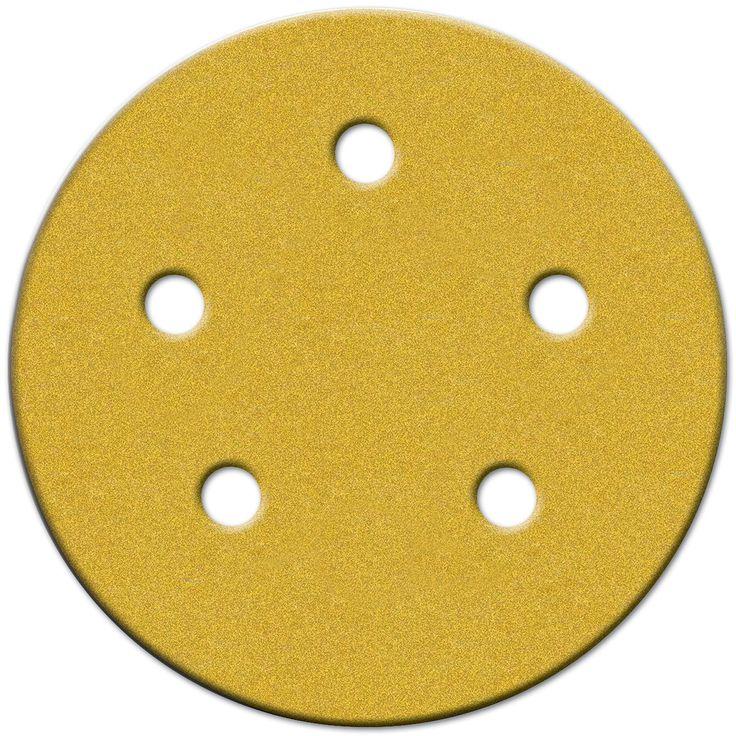 "Norton 02206 5"" Medium Grit P120 Hook & Loop Sanding Disc 4-count"