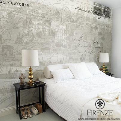 #Firenze, #tapiz, #cama #muebles #hogar #lampara #blancos