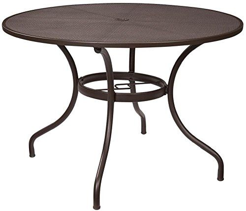 Round Dining Table Metal Mesh 40 Inch