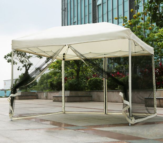 Outdoor Party Tent Folding Garden Canopy Pop Up Gazebo Wedding Pavilion 3x3x2.6M #iKayaa #PopUpGazeboTent