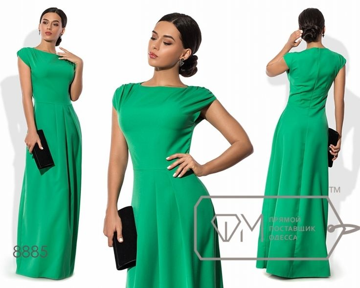 Платье макси ,с коротким рукавом ,из ткани креп костюмка
