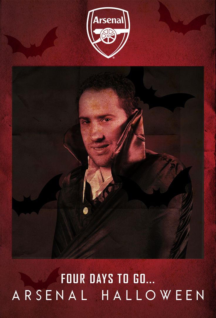 David Ospina as Dracula. Four days to go... #ArsenalHalloween