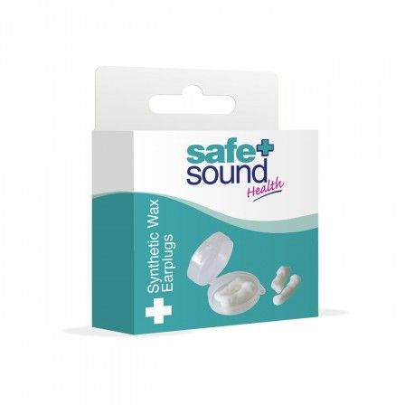 Safe & Sound Health Synthetic Wax Ear Plugs are made from high quality wax held together by a unique knitted cotton frame that allows for its mouldability into the ear canal. These earplugs are durable and can be used in prolonged periods of time. Ideal for sleeping, travelling, swimming and many other recreational activities. Disposable. 6 pairs per pack and travel case included.
