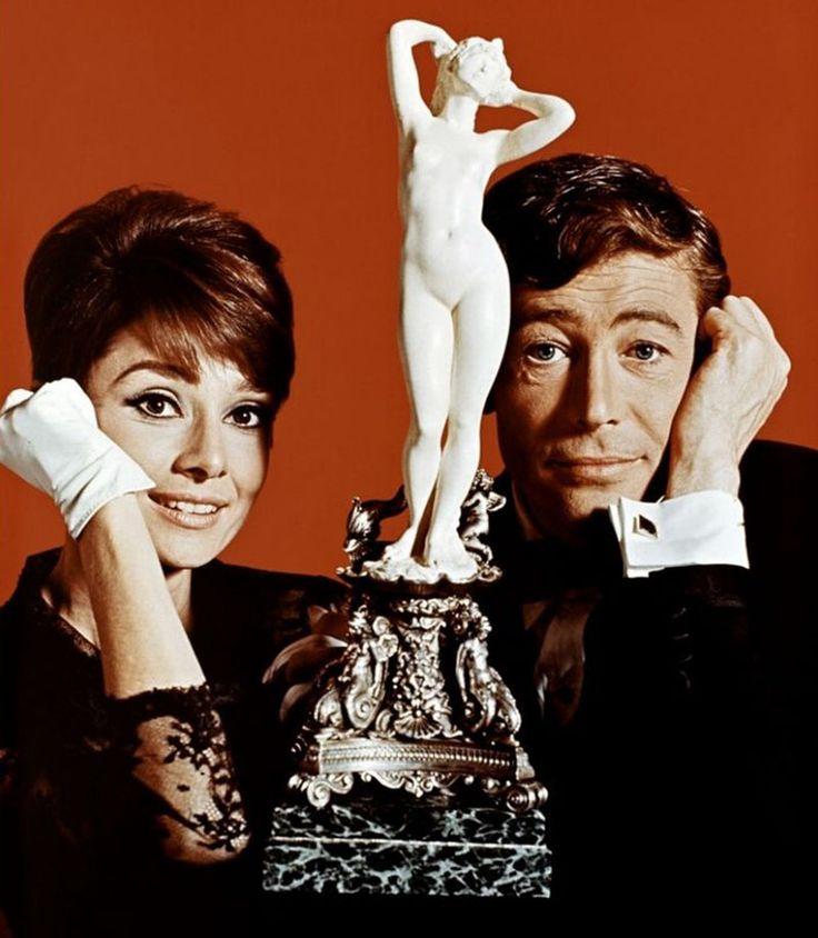 """Audrey Hepburn y Peter O'Toole en """"Como robar un millón y…"""", 1966"""