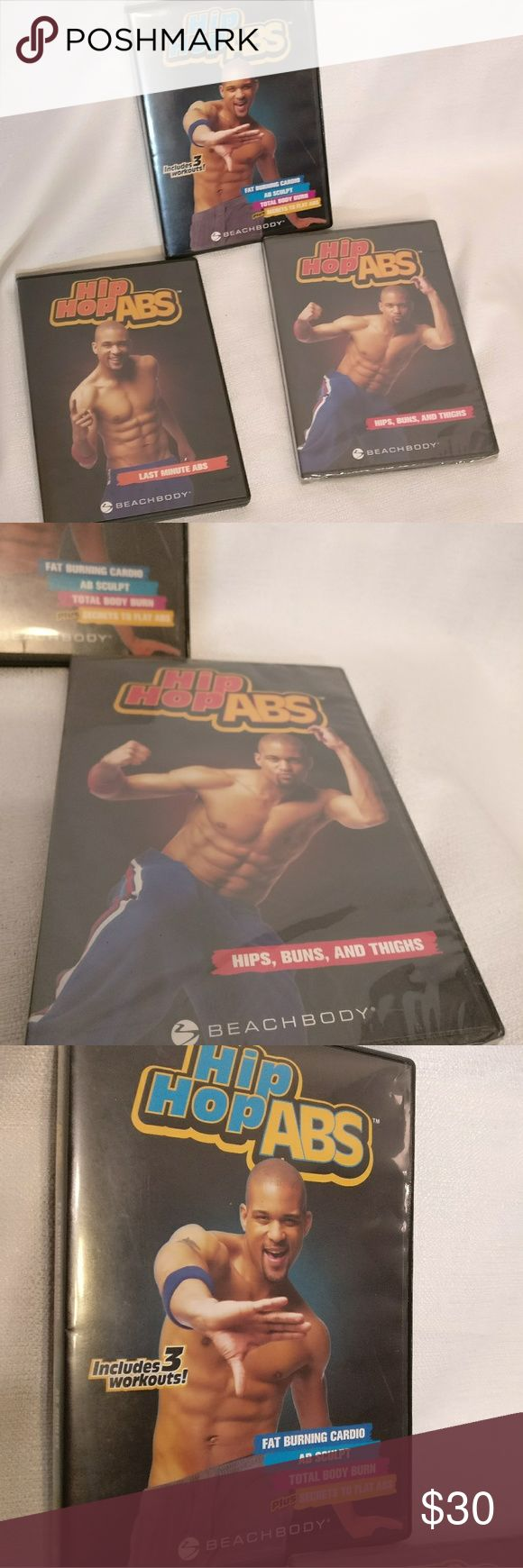 HIP HOP ABS 3 WORKOUT DVDS One is still new unopened package, two have been opened. unknown Other