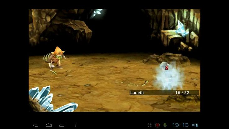 Final fantasy III (3) HD on android HP touchpad  cm9 (+playlist)