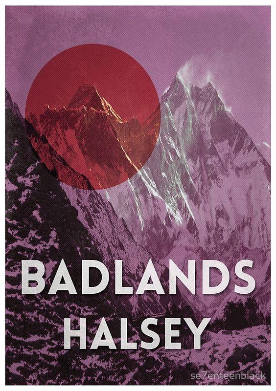 Halsey's 'Badlands' alternative poster   se7enteenblack   $12.96-$34.98