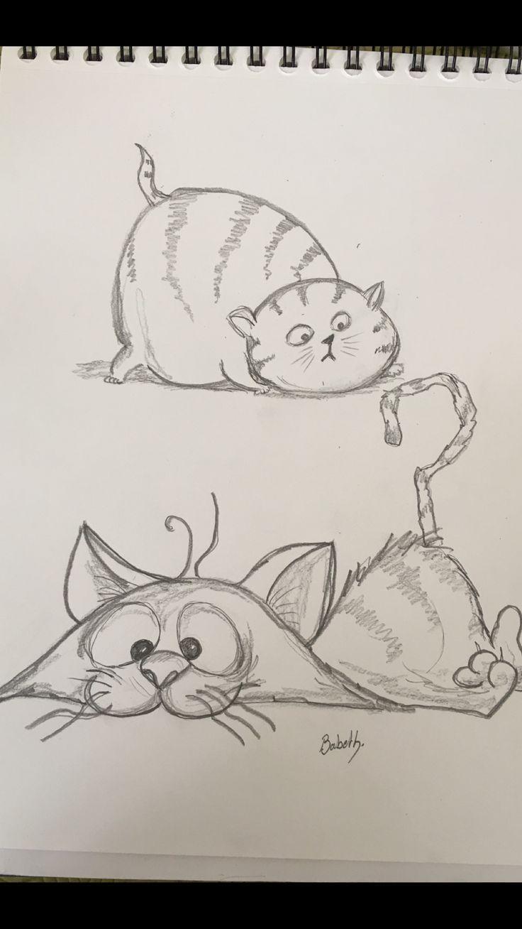 Fluffy Puffy Art Cats Sketch Sketchbook Kittis Art Cats