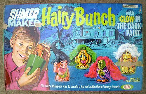1972 Ideal Shaker Maker Hairy Bunch Set