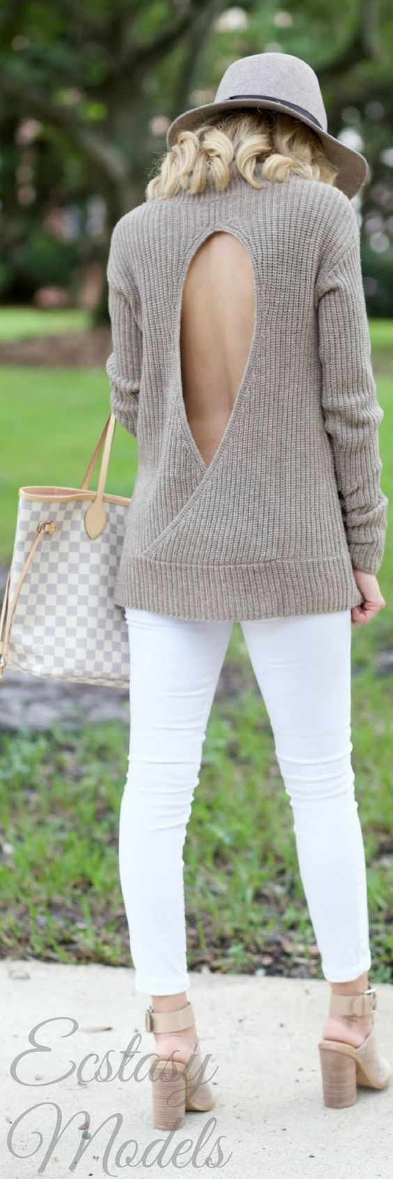 Open Back  Sweater For Fall // Fashion Look by A Spoonful Of Style
