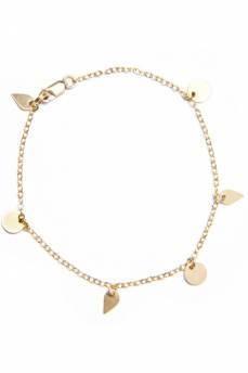 Petite Grand gold charm chain bracelet