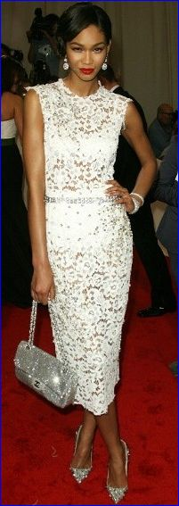 Chanel Iman in Dolce and Gabbana - Met Gala 2011