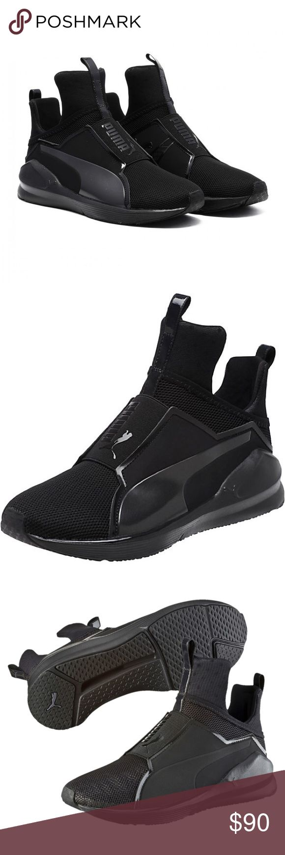 Kylie Jenner Puma Fierce Core All black puma sneaker. Super comfortable and soft. New. Puma Shoes Sneakers