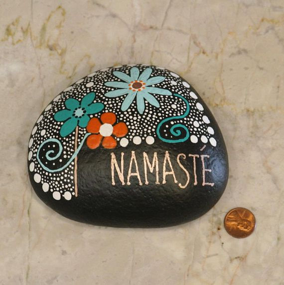 Rock Art Painted Rock Hand Painted Zen Doodles