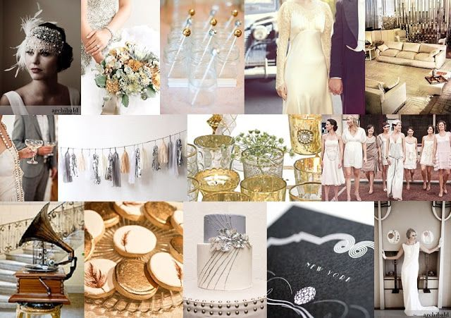 GREAT GATSBY WEDDING THEMES | As part of this post, we want to share the inspiration and movement ...