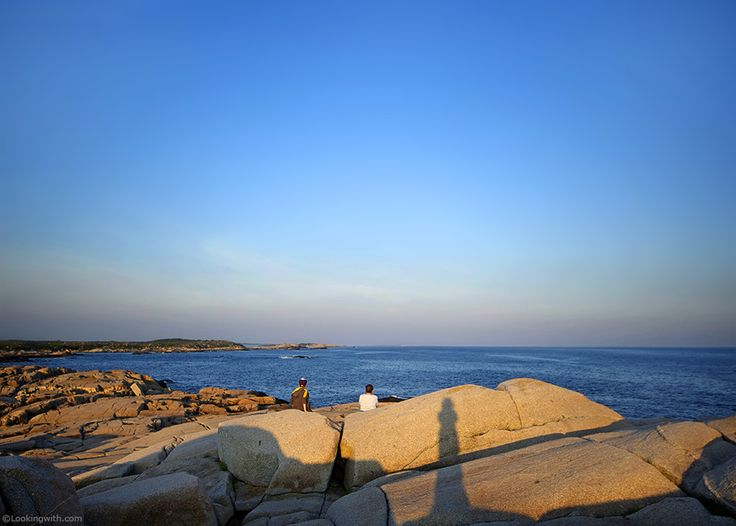 Looking With Max & Jones At charming Atlantic Ocean from Peggy's cove. What caught my eyes was the beautiful relation of this grandma and grandson... #LookingWith #Halifax #PeggysCove #NovaScotia #Canada