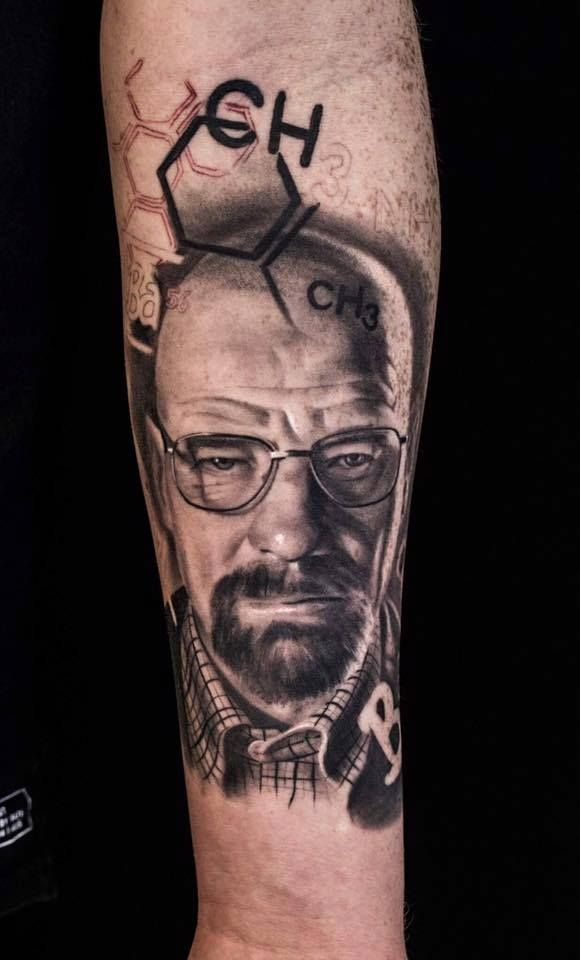 Walter White - Breaking bad   Artist - Chris   website: https://www.facebook.com/tattooartchris/?fref=ts