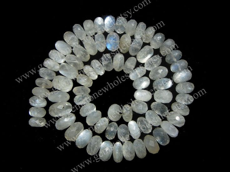 Sillimanite Faceted Roundel (Quality AA) (1STRANDS) / 7.50 to 9.50 mm / 30 to 33 Grms / 36 cm / SI-005 by GemstoneWholesaler on Etsy
