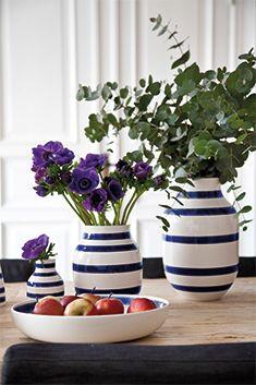Vaser (ikke grønne og orange striper)