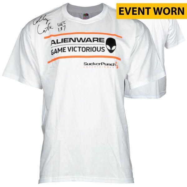 Colby Covington Ultimate Fighting Championship Fanatics Authentic Autographed UFC 187 Event-Worn Walkout Shirt with UFC 187 Inscription - Defeated Mike Pyle via Unanimous Decision - $399.99